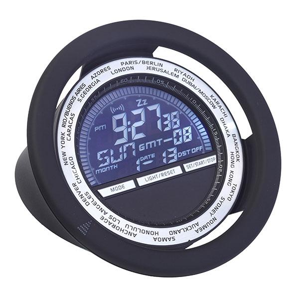 """""""דרייב"""" שעון עולם דיגיטלי עגול בעיצוב הגה"""