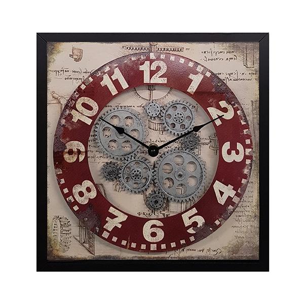 """""""ליאונרדו דה וינצי"""" שעון קיר גלגלי שיניים"""
