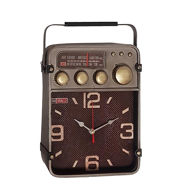 שעון שולחני בעיצוב רטרו בצורת רדיו FM 106.2 עתיק