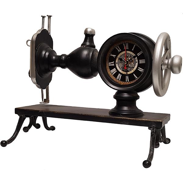 שעון שולחני בעיצוב רטרו בצורת מכונת תפירה