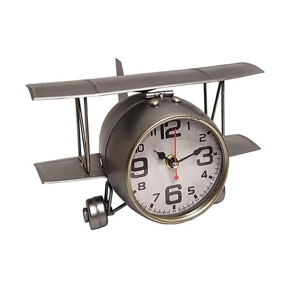 שעון שולחני בעיצוב רטרו בצורת אווירון עתיק