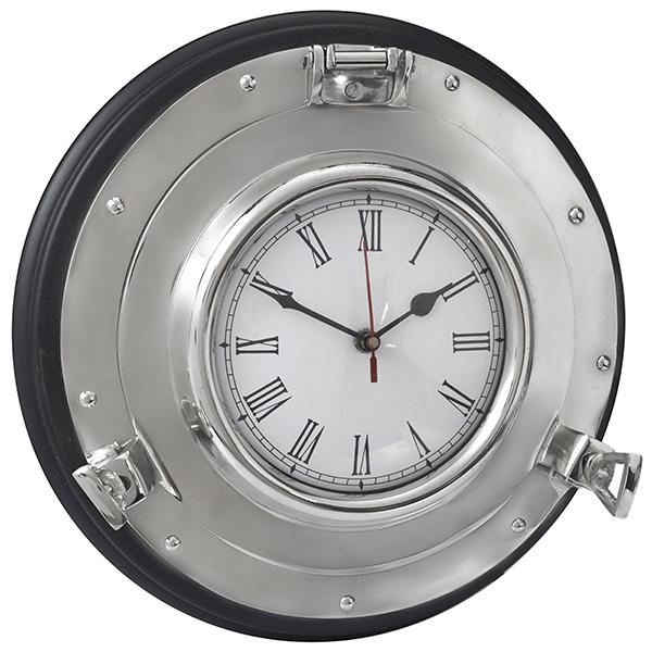 שעון נחושת בצורת הגה ספינה גדול