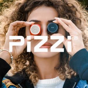 """""""פיצי"""" PiZZi רמקול Bluetooth מיני עוצמתי במיוחד 35 מ""""מ בלבד"""