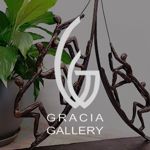 """פסלי אומנות מבית """"GRACIA GALLERY"""" ופסלי נוי"""